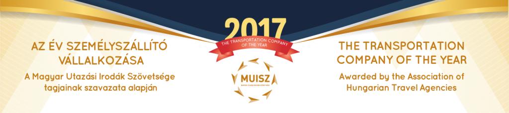 Az év személyszállító vállalkozása díj logója