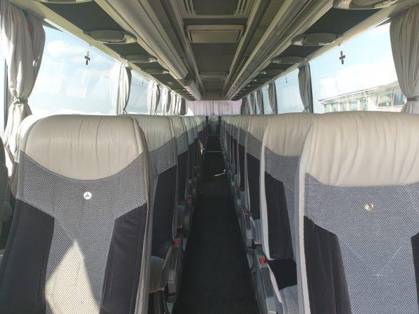 közvetített autóbuszunk belülről