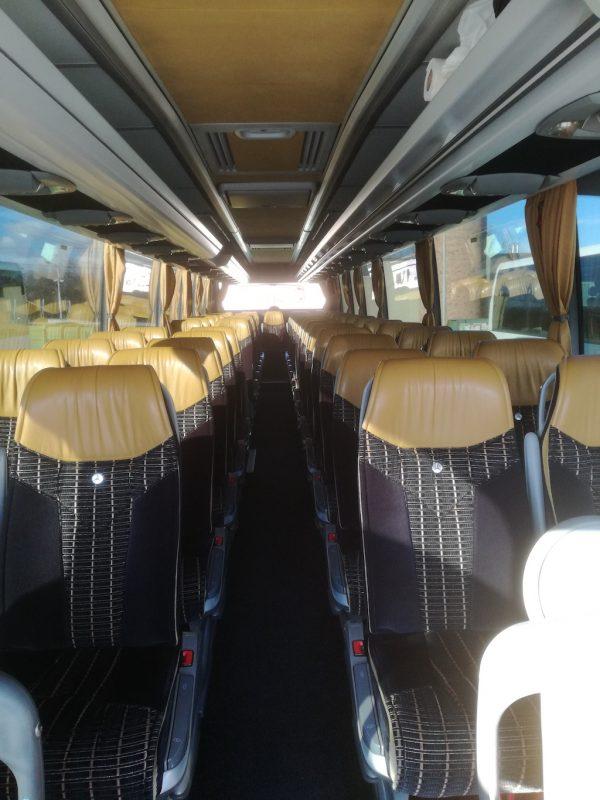 Mercedes Travego autóbusz belülről
